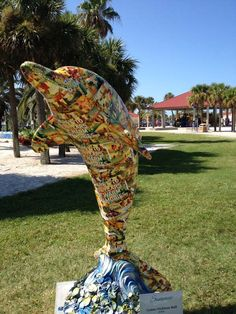 Sponsor: Visit St.Pete/Clearwater  Artist:  Lenne Nicklaus-Ball  One of 50 #ClearwatersDolphins on display at Pier 60 Park #Clearwater until 9/4/12.
