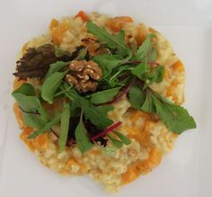 Pompoen risotto met walnoten!  Risotto with butternut squash and walnuts!