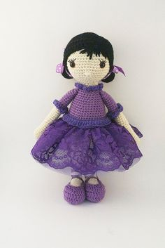 Amigurumi crochet doll Romantic ballerina with by BubblesAndBongo ♡
