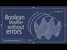 Boolean Modifier without errors 3D model Blender - YouTube
