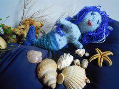 Wollfadengeschöpfe: Meerjungfrau Undine und Seenixe Lileila