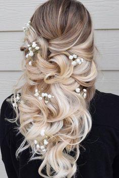 Rustic Wedding Hairstyles, Wedding Hairstyles For Long Hair, Bride Hairstyles, Down Hairstyles, Hairstyle Ideas, Medium Hair Styles, Short Hair Styles, Best Hairdresser, Wedding Hair Inspiration