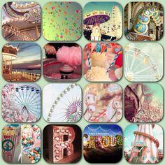 Vintage fairground inspiration colour palette