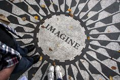 Strawberry Fields Memorial in Central Park, New York (been here,would love to see it again..and again..and again..)