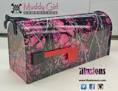 Best Mailbox Ever! Hydro Graphics, Muddy Girl Camo, Pink Camouflage, Toot, Pink Girl, Illusions, Girly, Projects, Hillbilly