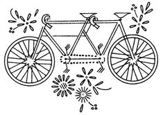 Embroidery of a bicycle built for two!