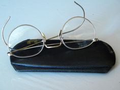 Vintage American Optics AO Eye Glasses 1/10 12k gf with Case  C.E. Savery, MD South Bend, Indiana by EMERALDLAKEJEWELS on Etsy