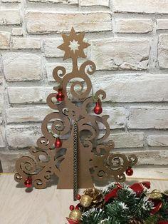 Eco design Albero di Natale di cartone di bottegadicartone su Etsy