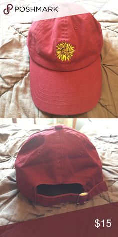 27163813 Tilly's Sunflower Hat Super cute sunflower baseball cap -- never worn  before, but no