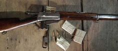 Russian-contract Winchester 1895 loaded with a stripper clip. Winchester 1895, Winchester Lever Action, Tactical Shotgun, Modern Man, Firearms, Weapons, Guns, Revolvers, Pew Pew