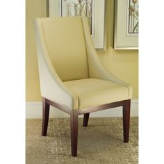 @Overstock - Soho Creme Leather Arm Chair. This chic leather arm chair will let you or a guest sit in style. It is both attractive and easy to clean with its coated bi-cast leather. It has a sturdy cherry-finished beech wood frame and legs and comes fully assembled for your convenience.http://www.overstock.com/Home-Garden/Soho-Creme-Leather-Arm-Chair/4039201/product.html?CID=214117 $229.99