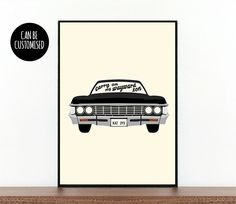 Supernatural, TV show, Impala, Carry on, My wayward son, Dean, Sam, Winchester, Supernatural car, Supernatural poster, custom Supernatural by AWayWithWordsPrints on Etsy https://www.etsy.com/uk/listing/200434555/supernatural-tv-show-impala-carry-on-my