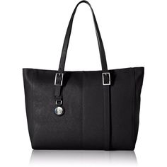 Armani Jeans U8 Eco Saffiano Tote Bag ($225) ❤ liked on Polyvore featuring bags, handbags, tote bags, armani jeans, black tote, armani jeans purse, black purse and armani jeans handbags