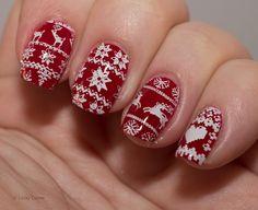 Lacky Corner: Winter Nail Art Challenge - Christmas Sweater