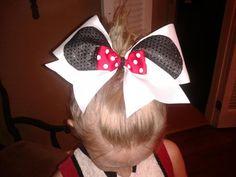 Worlds Cheer Bow Minnie MIckey Bows by SizeMattersCheerBows, $10.00