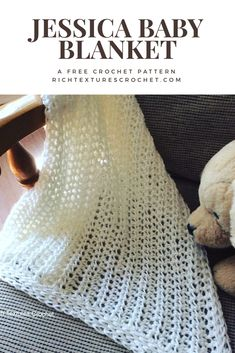 An easy baby blanket - with an heirloom look, it works up quickly!