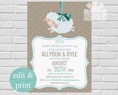 Our Little Lamb Baby Shower/Storybook Baby by SpicedAppleParties