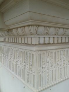 Stringcourses with architectural eggs and dentils by Architectural Ornaments Art And Technology, Historical Architecture, Exterior Design, Stairs, Eggs, Ornaments, Outdoor Decor, Home Decor, Stairway