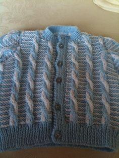 Double knit cable twist cardi  April 2015