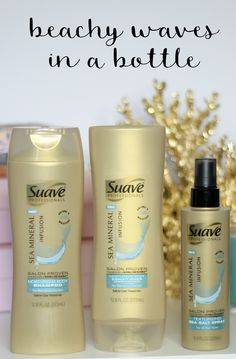 Want the perfect beachy waves? Check out this line from @suavebeauty!  They're salon proven to work as well as comparable Bumble and bumble Surf® products*, and you can buy them for under $5 at Walmart! #ad