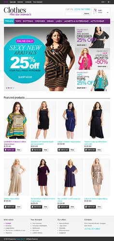 Ecommerce website Design and web Development by TechIdea NZ Fashion Website Design, Responsive Web, Web Design Inspiration, Website Template, Layout Design, Editorial Fashion, Plus Size, Templates, Coffee Break