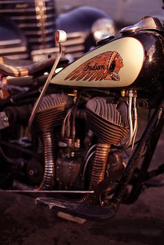 Vintage Indian with right-hand shift lever
