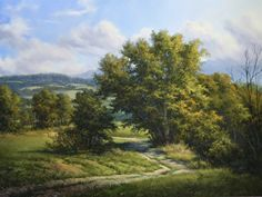 Late Summer, Cambridge, VT by Andrew Orr Oil ~ 18 x 24