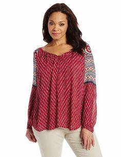 Lucky Brand Women's Plus-Size Petaluma Peasant Blouse, Red Multi, 2X Lucky $89 Brand,http://www.amazon.com/dp/B00GWGCD9M/ref=cm_sw_r_pi_dp_-kurtb06Z1MZZM1S
