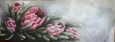 List Of Paintings, Oil Pastel Paintings, Flower Paintings, Silk Painting, Painting & Drawing, Protea Art, Decoupage Paper, Decoupage Ideas, Art Techniques