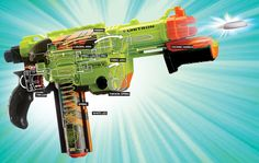 Nerf's first gun with a 20-yard range. How it works: http://pops.ci/Yq4gLL