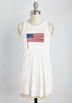 Smile and Wave Tunic. Feeling lighthearted in this white tank top, you offer gracious greetings to passersby as freely as a flag flaps in the sky! #white #modcloth
