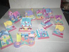 Vintage Bluebird Polly Pockets houses