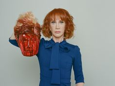 A photo showing the comedian posing with a bloodied prop head of the president has been widely denounced. The photographer says it's a valid form of artistic expression.