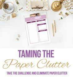 Do you struggle with controlling the paper clutter in your home? Here are some great tips to help you get it all under control...