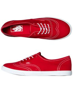 0df71abf53 VANS WOMENS AUTHENTIC LO PRO SHOE - PRINTED OXFORD RED TRUE WHITE