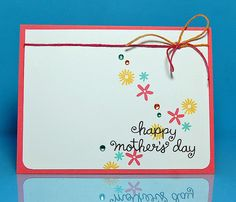 Lawn Fawn - Mother's Day, Pink Lemonade Lawn Trimmings _ sweet CAS card by Lynnette