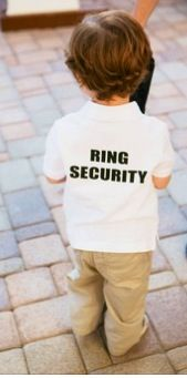Lil Ring bearer security guard of the ring