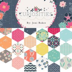Curiosities Fabric Reveal - InColorOrder.com Cute fabric in stores June 2015; bunnies and fireflies and flowers.
