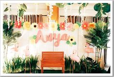 Tropical Party Photobooth Backdrop Ideas