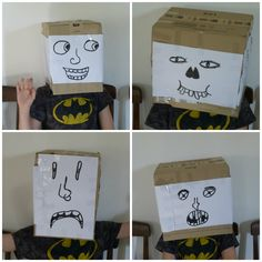 My youngest son Miles was bored today so I gave him a cardboard box. It works every time!