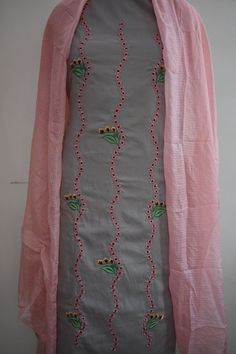 Are you looking for Punjabi suit beautiful machine work kota dupatta? Embroidery Suits Punjabi, Kurti Embroidery Design, Embroidery Fashion, Embroidery Dress, Punjabi Suits Designer Boutique, Boutique Suits, Indian Designer Suits, Punjabi Suit Boutique, Salwar Suits Party Wear