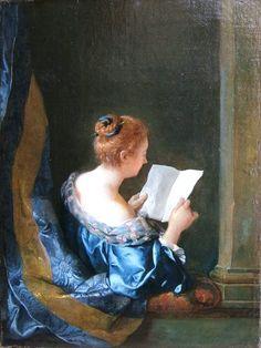 A Woman Reading, painted by Jean-François de Troy in 1723, via Flickr.