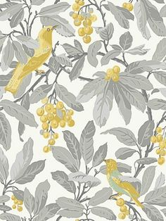 DecoratorsBest - Detail1 - CS 98/1003 - ROYAL GARDEN-GREY/YELLOW - Wallpaper - DecoratorsBest