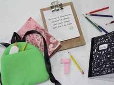 How to Make a Doll Book Bag (any size you want)