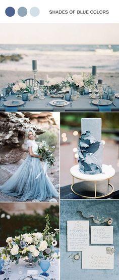 elegant shades of blue wedding color ideas #weddingideas #weddingcolors #blueweddings #dustyblueweddings #navyblueweddings