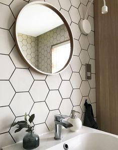 Tile Sample: Pura Satin White Hexagon Porcelain Wall & Floor In / Outdoor Tiles Mosaic Tile Stickers, Tile Stickers Kitchen, Grey Mosaic Tiles, Ceramic Mosaic Tile, Stick On Wall Tiles, Wall And Floor Tiles, Contemporary Kitchen Tiles, Wall Tile Adhesive, Glazed Walls