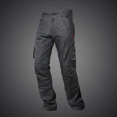 Jet Motorcycle Motorbike Biker Riding Jeans Trousers Pants Men Raw Selvedge Denim Dupont Lined Kevlar Aramid with Armor W 32 L 34, Indigo Blue