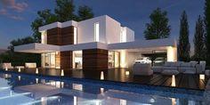 casa de lujo fachada moderna Fachadas de casas modernas Fachada de casa Casas modernas