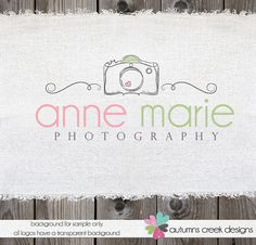 Premade Logo for Photographer Swirl Camera Logo Design Photography Watermark Design