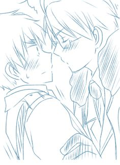 aph england x aph America kissing(I love how Alfred at the end is like, 'Oh my god I kissed him...'